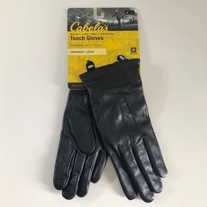 NWT Cabela's Leather Lambswool Lined Touch Gloves